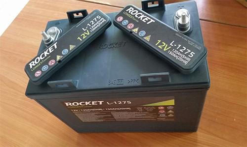 Bình ắc quy ROCKET L1275 12V 150Ah chuyên dùng cho xe lau sàn ngồi lái