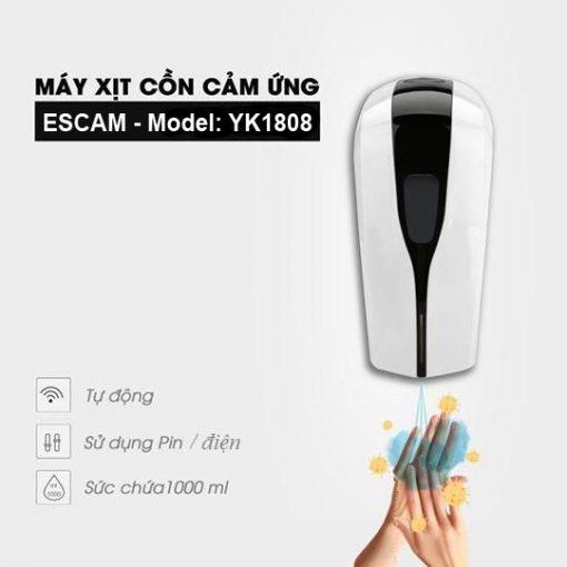 Máy xịt cồn sát khuẩn tay cảm ứng tự động ESCAM YK1808