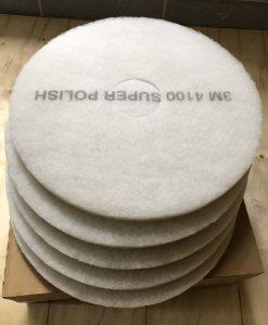 Miếng pad đánh bóng sàn 3M màu trắng 4100 White Super Polish
