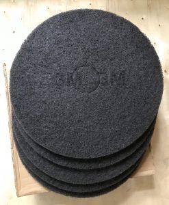 Pad đánh sàn 3M màu đen 7200 Black Stripper thùng 5 miếng