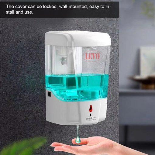 Hộp đựng nước rửa tay cảm ứng tự động