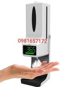 Máy đo nhiệt độ kèm rửa tay tự động 2 trong 1
