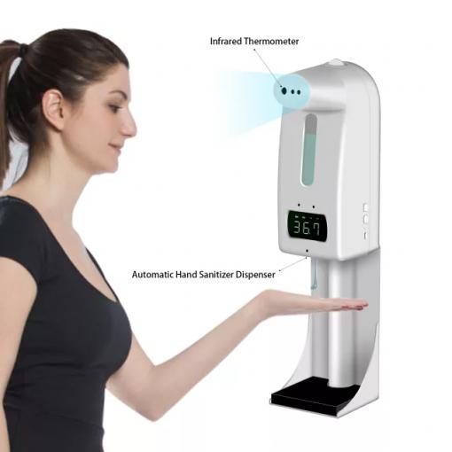 Máy đo nhiệt độ tích hợp rửa tay tự động K10 pro