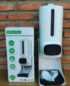 Máy đo nhiệt độ, xịt sát khuẩn tay K9 Pro Plus